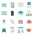 It Flat Icons Set vector image vector image
