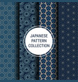 japanese pattern collection vector image vector image