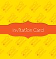 Knife Fork Spoon Invitation Card vector image vector image