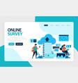 landing page online survey satisfaction feedback vector image vector image