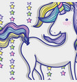 magic and fantastic unicorn cute cartoon vector image vector image