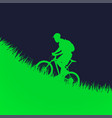 man on bicycle silhouette vector image vector image