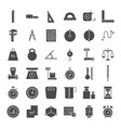 measure solid web icons vector image