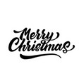 merry christmas lettering script ink sign vector image