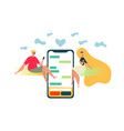 mobile chat - modern concept of the chat app vector image