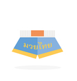 Muay thai pants vector image