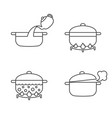 order of cooking info graphics vector image vector image