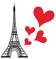 paris town in france love heart eiffel tower vector image vector image