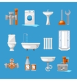 plumbing sanitary engineering icons sink vector image