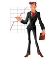 presentation businessman vector image vector image