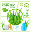realistic natural cosmetic products composition vector image