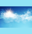 realistic sky template with transparent cloud vector image