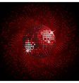 red disco ball and halftone vector image vector image