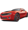 red muscle car vector image vector image