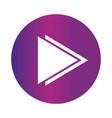 right double arrow continue icon button gradient vector image vector image