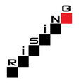Rising graph concept with cubes rising up