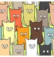 seamless pattern with funny cats color vector image vector image