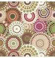 Seamless retro pattern with vintage bright vector image