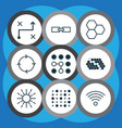 set of 9 robotics icons includes variable vector image vector image