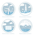 set of alternative and renewable energy vector image vector image