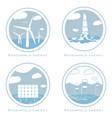 Set of alternative and renewable energy