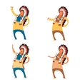 Set of indian chieves vector image