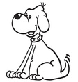simple black and white dog vector image vector image