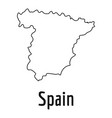 spain map thin line simple vector image