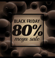 Stylish black friday sale poster with dark bubbles
