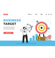 target web page business strategy landing page vector image