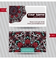 templates set business card vector image
