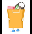 the buyer to keep a package with purchases flat vector image vector image