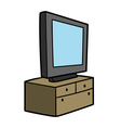 tv on commode vector image