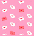valentines day pink love letter seamless pattern vector image vector image