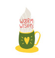 warm wishes congratulation vector image
