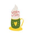 warm wishes congratulation vector image vector image