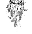 Watercolor with dreamcatcher vector image vector image