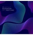 wavy background presentation geometric lines vector image vector image