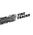 white background with tire track impression vector image