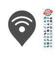 wi-fi map marker icon with free bonus vector image vector image