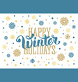 Winter holidays vector image vector image