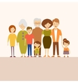 Big Nuclear Family in Flat vector image