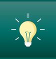 halogen lightbulb icon light bulb sign vector image
