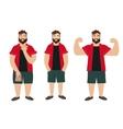 Man Figure Fat Normal Slim vector image