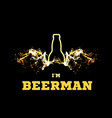 a beerman with beer wings vector image