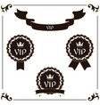 a set of elegant vip label and ribbon it is vector image vector image