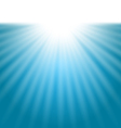 Abstract background with sunbeam vector image vector image