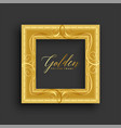 antique vintage golden frame design vector image