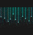 binary background running bright code with lights vector image