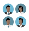 Business people icons vector image